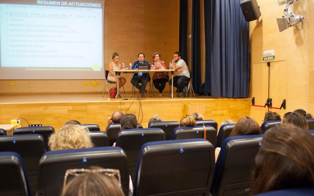 """Nota aclaratoria sobre el uso """"no educativo"""" de las escuelas infantiles durante el mes de julio"""