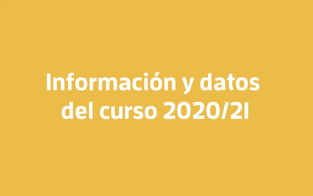 [DOCUMENTOS] Información y datos del curso 2020/21